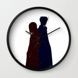 Anime Space Inspired Shirt Wall Clock