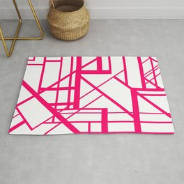 Roadway Of Abstraction - Interstate Abstract Path Rug