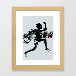 Forward - Run Framed Art Print