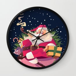 relax santa Wall Clock