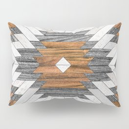 Urban Tribal Pattern 8 - Aztec - Wood Pillow Sham