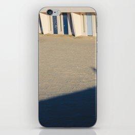 beach cabins Touquet iPhone Skin