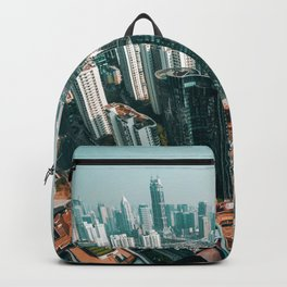 Aerial Cityscape and Legs (Color) Backpack