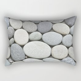 Grey Beige Smooth Pebble Collection Rectangular Pillow