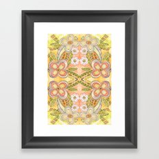 Ethnic Floral Framed Art Print