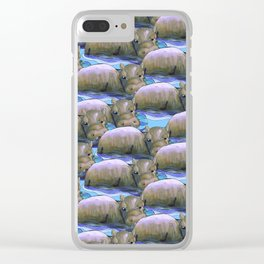hippo squad Clear iPhone Case
