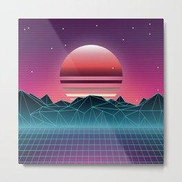 Sunset Vaporwave Aesthetic Metal Print