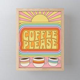 Coffee Please Framed Mini Art Print