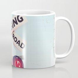 American Railroad crossing Coffee Mug