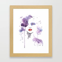Red Eyes Red Lips two Framed Art Print