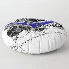 57 Gasser REV-3 BLUE Floor Pillow