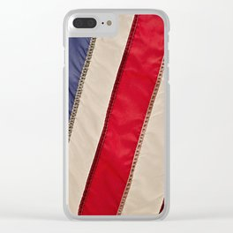 The flag of the United States of America Clear iPhone Case