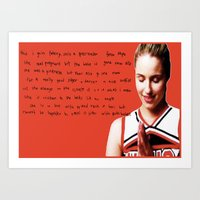 glee Art Prints featuring glee 2 by Willow Summers