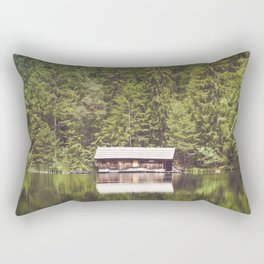 Cottage in the Forest (Color) Rectangular Pillow