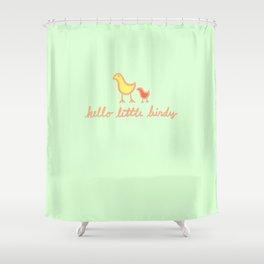 Hello Little Birdy Shower Curtain