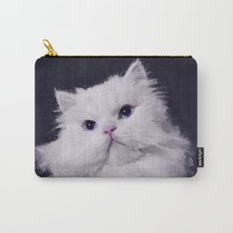 Shiny - the white Persian cat Carry-All Pouch
