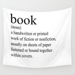 Book Definition (Black on White) Wall Tapestry