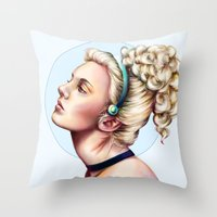 cinderella Throw Pillows featuring cinderella by Anja-Catharina