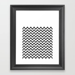 Black Chevron On White Framed Art Print
