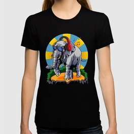 Hipster Elephant | Cool Glasses Headphones Swag T-shirt