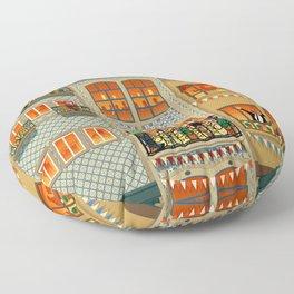 Porto Houses - Portugal Floor Pillow