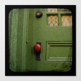The Red Doorknob Canvas Print