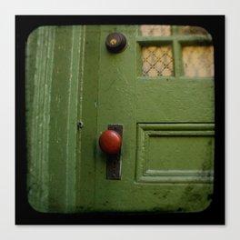 The Red Doorknob Canvas Print