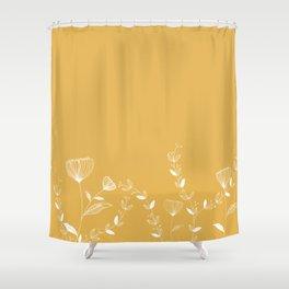 Minimal Floral Shower Curtain