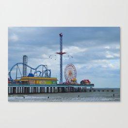 Pleasure Pier - Galveston Texas Canvas Print