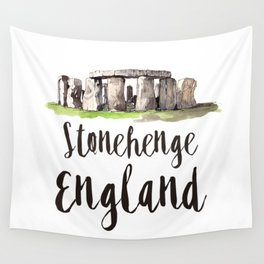 Stonehenge watercolor Wall Tapestry