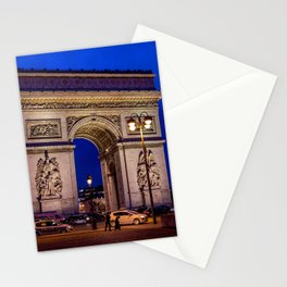 France Photography - Arc de Triomphe In The Night Stationery Cards