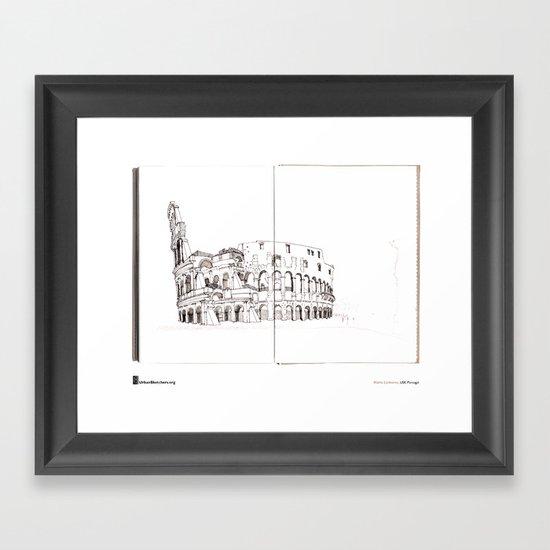 """Mário Linhares """"Colosseum Rome"""" Framed Art Print"""