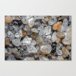 Singing beach sand under a microscope Canvas Print
