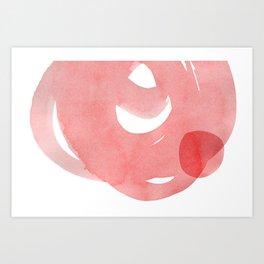 Minimal Pink Abstract 07 Art Print