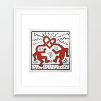 keith haring Framed Art Prints featuring 077: Keith Haring - 100 Hoopties by 100 Hoopties