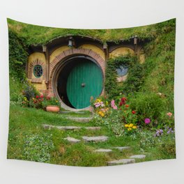 Green Magical Home, New Zealand Wall Tapestry