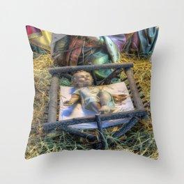Away in a Manger Throw Pillow