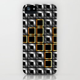 Abstract composition with squares iPhone Case