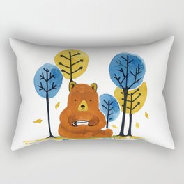 Coffee Bear Rectangular Pillow