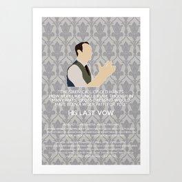 His Last Vow - Mycroft Holmes Art Print