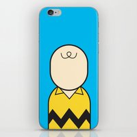 charlie brown iPhone & iPod Skins featuring Charlie by Ale Giorgini