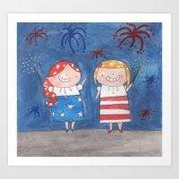 July  - Year of Sisters - Watercolor Art Print
