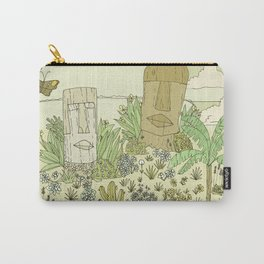 tiki gods send waves and peace swamis // retro surf art by surfy birdy Carry-All Pouch