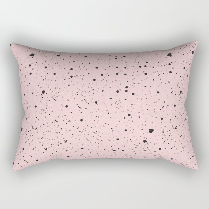 Speckled Pink Rectangular Pillow