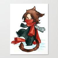 bucky Canvas Prints featuring winter - bucky by noCek