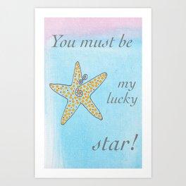 Lucky Starfish Art Print