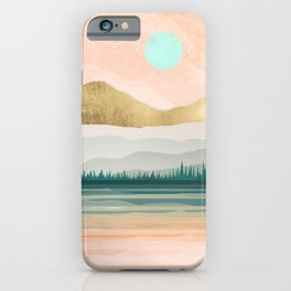 Spring Forest Lake iPhone Case