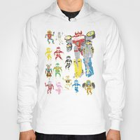 power rangers Hoodies featuring Mighty Melty Power Rangers by Josh Ln