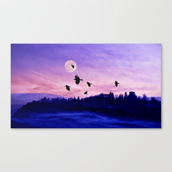 Crow moon Canvas Print
