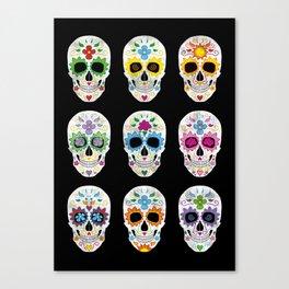 Nine skulls Canvas Print